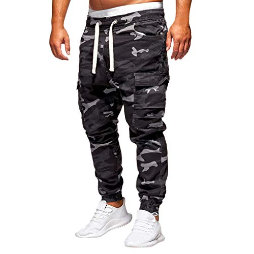 - WOCACHI Mens Camo Cargo Jogger Pants Fashion Loose Handsome Pocket Jeans Chino Camouflage Pants M-4XL Trousers 2019 Overalls Dungaree Summer Deals Under 10 Dollars Up to 30% 50% 70% OFF
