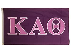 Kappa Alpha Theta Dark Purple/Light Purple Sorority Letter Flag