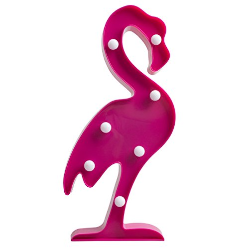 Running Panda 3D Led Night Light Table Wall Lamp for Girls Boys Room, Living Room Bedroom Nursery Decorations, Tropical Plastic Marquee Light Party Supplies, Birthday Gifts for Kids (Flamingo) ()