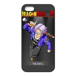 Caso Trunks Dragon Ball Z iPhone 5 5S caso de la cubierta del teléfono celular Negro Cubierta EVAXLKNBC07842