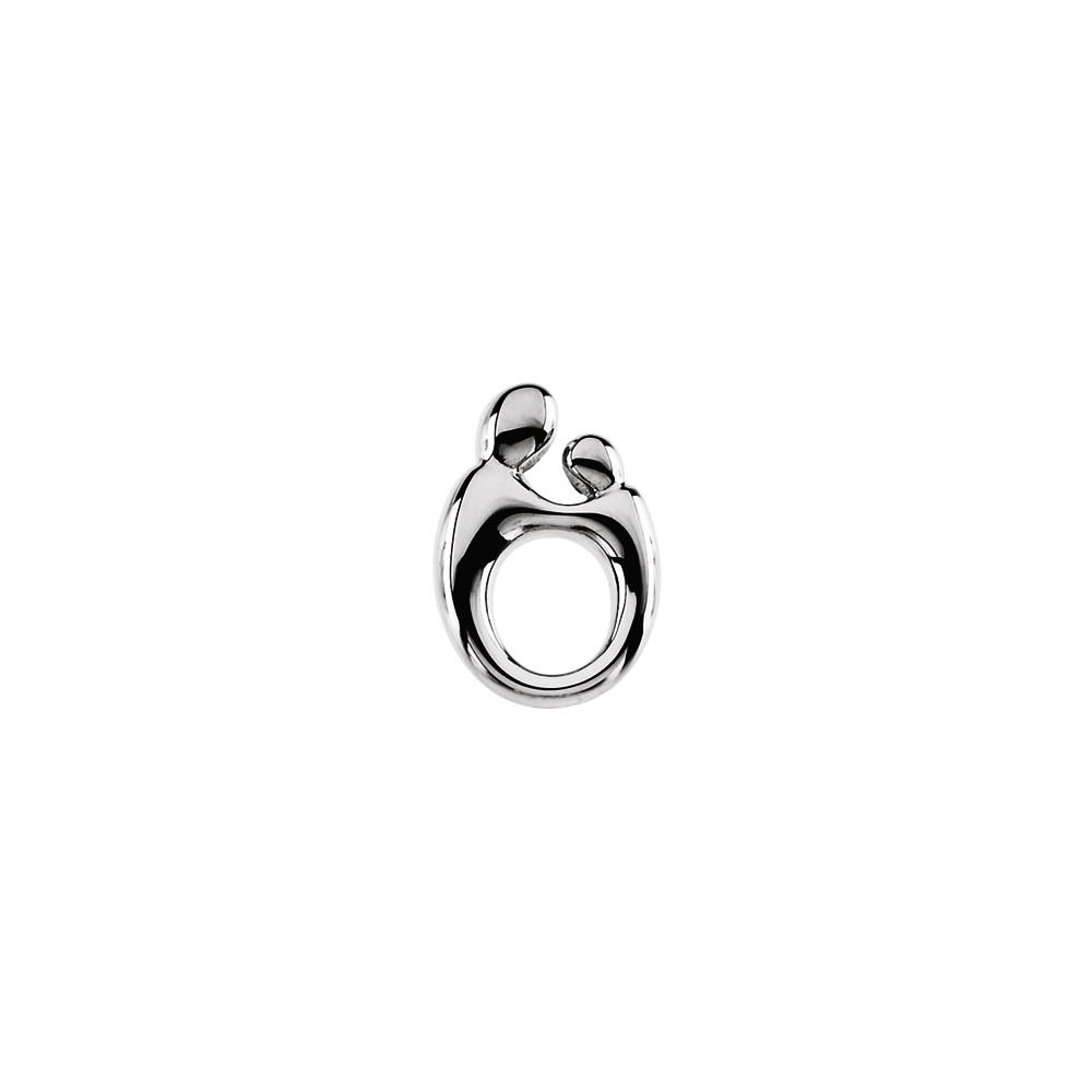 FB Jewels 925 Sterling Silver 14.5X9.8 mm Polished Mother And Child Pendant