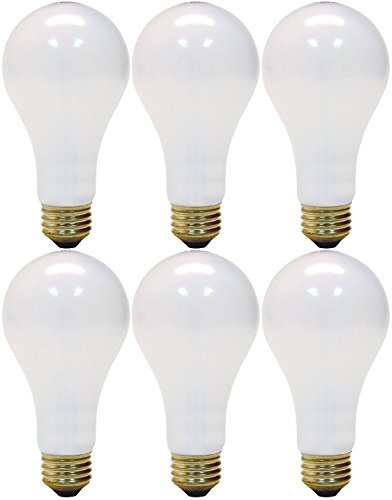 GE Lighting 3-Way 50-200-250 Soft White Light Bulb (Pack of 6) (White Incandescent Two Light)