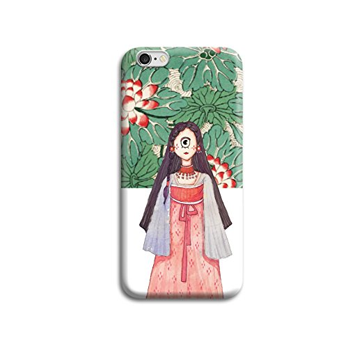 IPhone 6/6S Case One Eye Girl Clear Design Printed Plastic Hard Back Case with Soft TPU Bumper Gel Protective Case Cover for Apple iPhone 6/6S (4.7 Inch)
