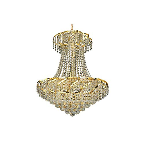 Elegant Lighting Value Belenus Collection Chandelier D:22in H:26in Lt:11 Gold Finish (Swarovski Elements Crystals) Gold ()