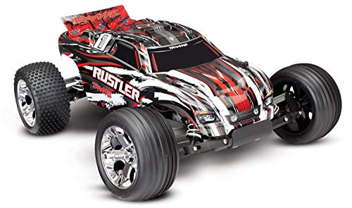 Traxxas 1/10 Scale Rustler 2WD Stadium Truck, Red (Traxxas Cars)