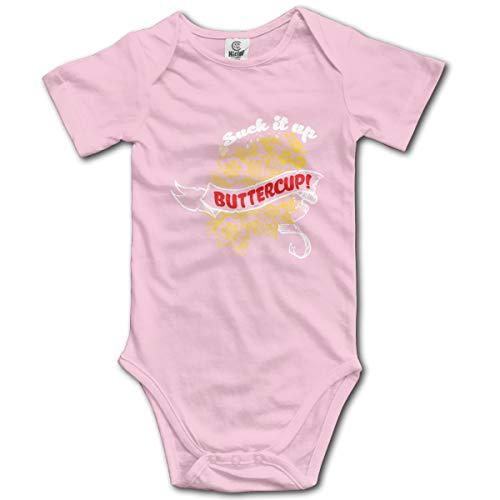 FOECBIR Suck It Up Buttercup 6 Funny Infant Short Sleeve Bodysuits Baby Boys Girls Pink]()