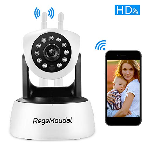 Home Camera,RegeMoudal 1080P WiFi IP Camera Wireless Indoor Camera 1920×1080 Resolution, IP Security Surveillance System with Night Vision Motion, Two Way Audio and Sound Detection (Black White)