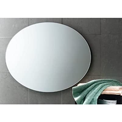 """Gedy 2575-13 Vanity Mirror, 5"""" L x 29.5"""" W, 30"""" x 20"""", Polished - Luxury vanity mirror, Made in high-end mirror H: 21.7 x W: 29.5 x D: 0.8 inches Made with a Polished reflective surface, protected by tempered glass - bathroom-mirrors, bathroom-accessories, bathroom - 41pccFr%2Bt L. SS400  -"""
