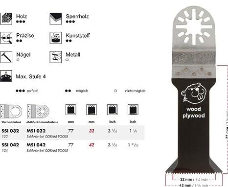 + 5 E-Cut S/ägebl/ätter SSI 042 Standard 42 mm Das Profi-Zubeh/ör f/ür Ihr oszillierendes Multifunktionswerkzeug passend f/ür Fein Supercut preisg/ünstige Markenqualit/ät Mit symmetrischer Spitzverzahnung und Sternaufnahme