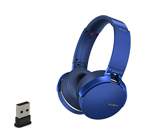 Sony MDRXB950B1/L Wireless Bluetooth Over-ear Headphones With USB Bluetooth Adapter - Blue