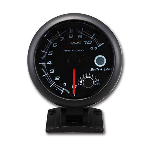 Racing Tachometer for Gasoline Built-in Shift Light 3-3/4