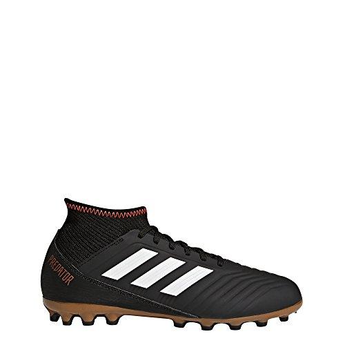 adidas Predator 18.3 AG J, Botas de Fútbol Unisex Niños Negro (Negbas/Ftwbla/Rojsol 000)