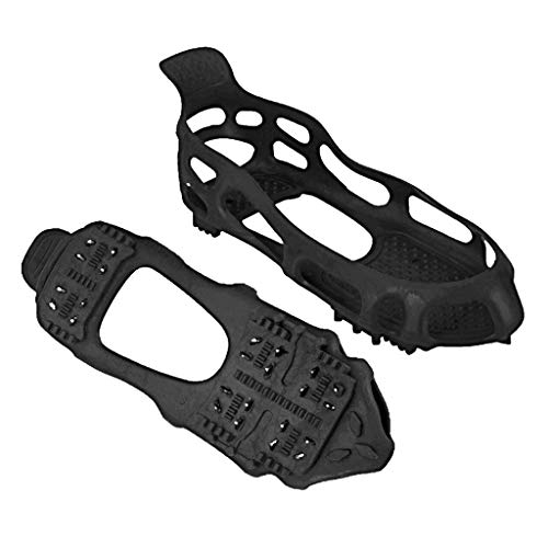 Quad Trek All-Terrain Slip On Traction Cleats   Ideal for Snow, Hiking, Trekking and Mud   Compatible with All Shoes, Boots, Sneakers, Scandals and Loafers - Small ()
