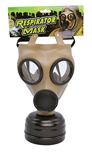 Gas Mask Realistic Mask Accessory for 40s WWII Halloween Fancy Dress Mask by Partypackage Ltd
