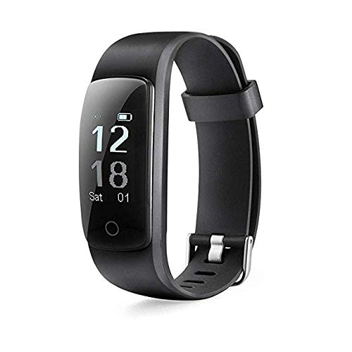 MICROTELLA Smart Fitness Tracker, Activity Watch Waterproof, Smart Band with Step Counter, Calorie Counter, Fit Bit Band, Fitness Tracker with Heart Rate Monitor for Android and iOS (Black)