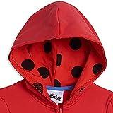 Miraculous Ladybug Big Girls Fleece Zip-Up Long