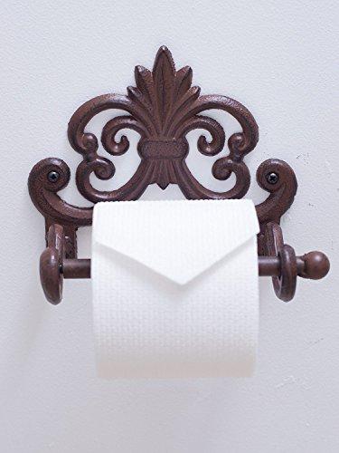 Fleur De Lis Cast Iron Toilet Paper