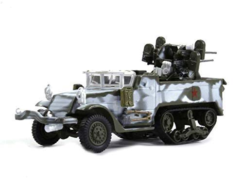 Russian Tanks M17 Multiple Gun Motor Carriage Winter 1945 Year 1/72 Scale Diecast Model Car