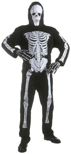 Widmann 38117 - Kinderkostüm Skelett, Anzug und Maske, Größe 140