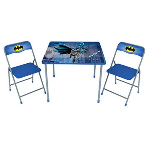 Batman Children's Metal Folding Table and Chair Set (Batman Bedroom Set)
