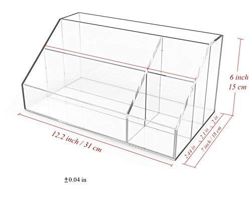 Acrylic Makeup Palette Organizer, Premium Quality Cosmetics Storage Box with Large Capacity by Boxalls
