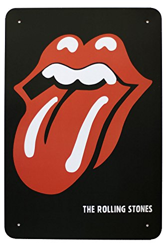 Metal Poster Tin Sign of The Rolling Stones Tongue and Lip Decorative Plaque 8*12 Inches