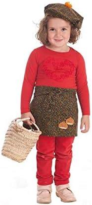 Disfraces Llopis Kit de Castañera para niña: Delantal y Gorro con ...