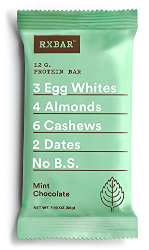RXBAR Whole Food Protein Bar, Mint Chocolate, 1.83oz Bars, 12 Count