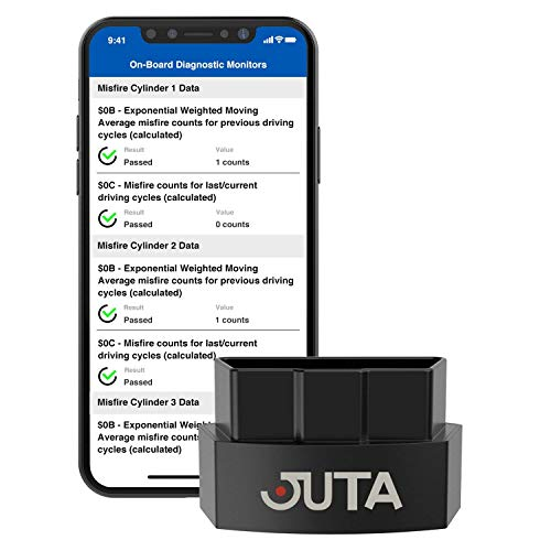JUTA α-Driver Bluetooth 4 0 OBD2 Scanner OBDII Code Reader Diagnostic  Interface Auto Tool for iOS, iPhone & Android