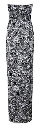De Robe Crane Blanc Animal Sheering De Fashion Noir Tribal Aztque Impression Boobtube Fast Maxi Femme Lopard qOxFwEnX