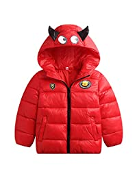 WYTbaby Kids Down Jackets Winter Hooded Coats Lightweight Waterproof Padded Outerwear