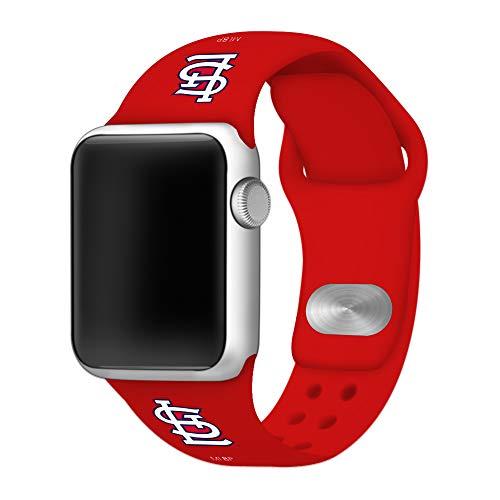 GAME TIME Saint Louis Cardinals Silicone Sport Band Compatible with Apple Watch 38mm/40mm Red