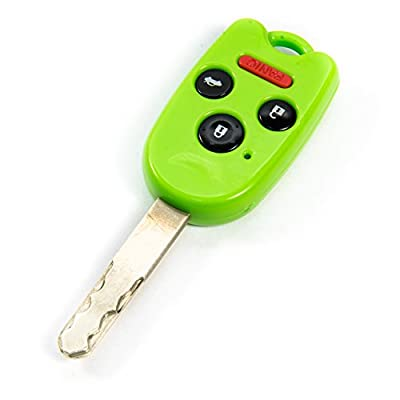 STAUBER Best Key Shell Replacement for Honda Accord, Ridgeline, Civic, and CR-V - KR55WK49308, N5F-A05TAA, N5F-S0084A - NO Locksmith Required Using Your Old Key and chip! - Green: Automotive