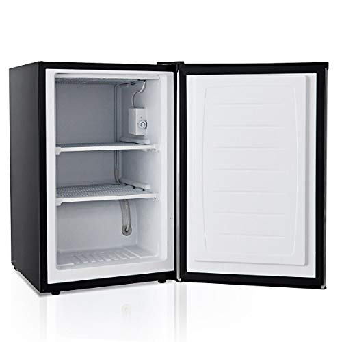 Compact Upright Freezer 3 cu.ft. with Stainless Steel Door Adjustable Removable Shelves