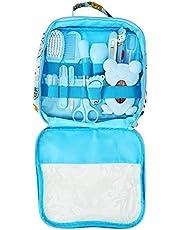 Qinlorgo babygezondheids- en verzorgingsset, 13-delige baby-nagelverzorgingsset persoonlijk dagelijks reinigingsverzorgingstool met praktische tas (blauw)