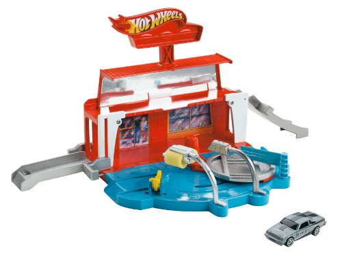Hot Wheels Team Hot Wheels Super Spin Carwash Playset