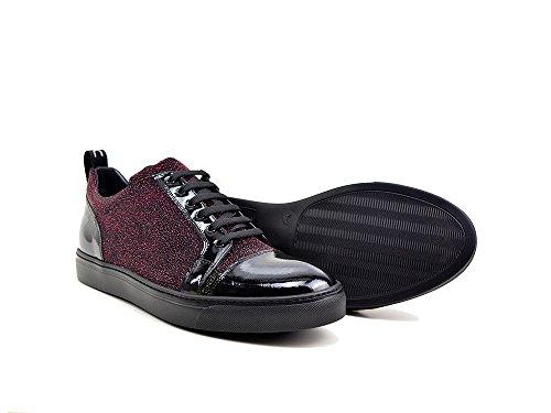 DIS Pietro - Sneakers Bassa Pelle Stampa Glitter e Vernice La tua sneakers bassa in pelle stampa glitter e vernice, 100% made in Italy e personalizzabile