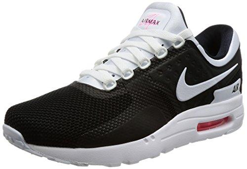 Nike Herren Air Max Zero Essential Sneaker Schwarz (Black/White-Solar Red)