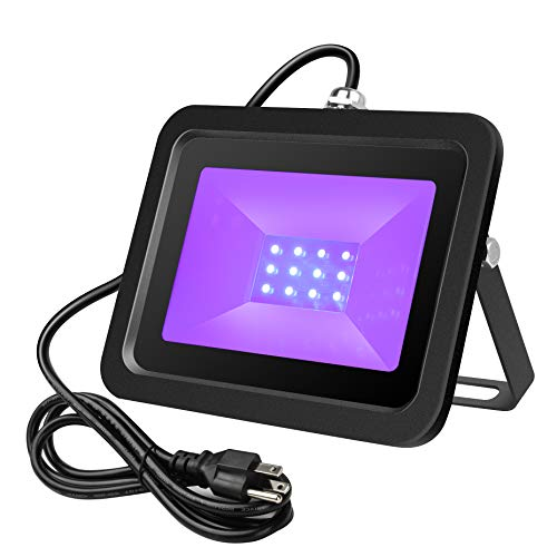 UV Black Light, Welkey Plus 20W UV LED Flood Light Outdoor Blacklight in The Dark Party Supplies,Ultra-Violet LED Black Lamp for Fluorescent Body Paint, DJ Disco, Neon Glow, Halloween Stage