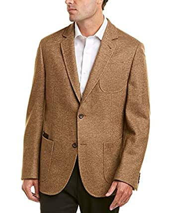 Flynt Mens Babbit Classic Fit Wool-Blend Sportcoat, 42R, Brown