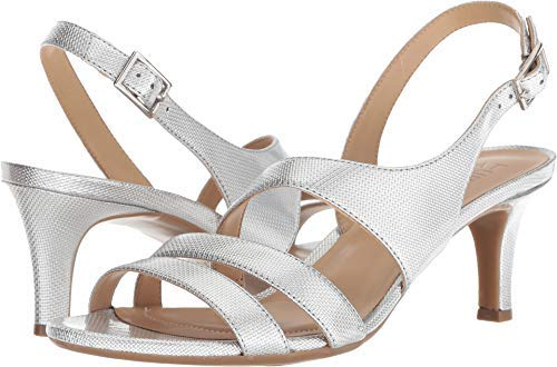 Naturalizer Womens Tami Open Toe Casual Slingback Sandals, Grey, Size 10.5