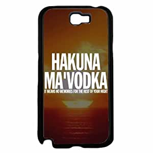 Hakuna Ma'Vodka Plastic Phone Case Back Cover Samsung Galaxy Note II 2 N7100 hjbrhga1544