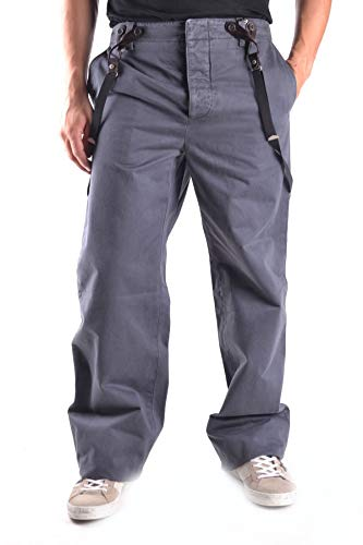 Marc Jacobs Men's Mcbi11112 Grey Cotton Pants