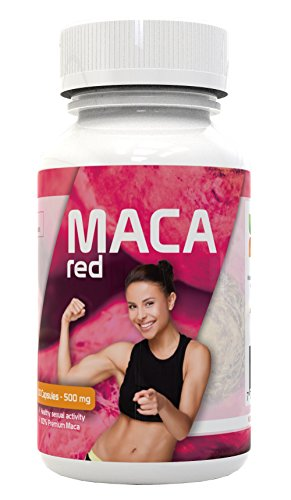 Red Maca Capsules for Women - Gelatinized and Pure - Root from Peru - Energy Booster, Hormone Balancer, Female Libido Enhancement, Improves Your Mood and Builds Your Muscles - Kosher Certified