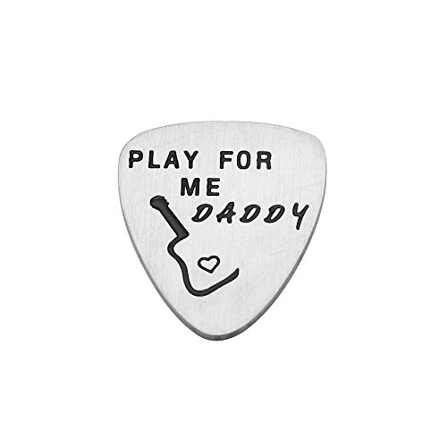 CAROMAY Guitar Picks Play For Me Daddy Charm Pendants Father Day Gifts Dad Papa