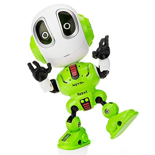 Sopu Talking Robot Toys Repeats What You Say Kids Robot Toy Metal Body Robot with Repeats Your Voice, Colorful Flashing Lights and Cool Sounds Robot Interactive Toy for Boys and Girls Gift (Green)