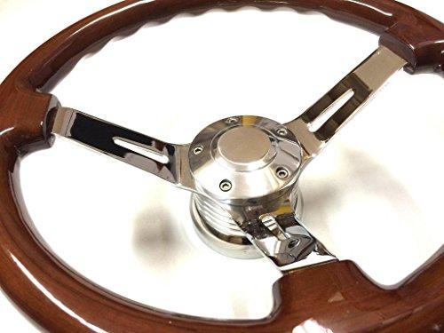 """14"""" Classic Split Spoke Deep Dish Steering Wheel w/ Horn"""