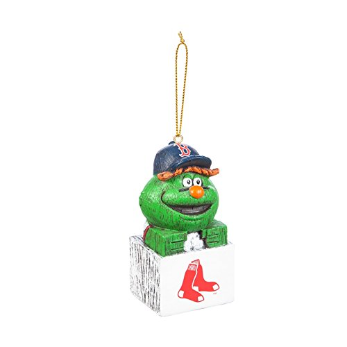 (Evergreen MLB Boston Red Sox OrnamentTiki Design, Team Colors, One Size)
