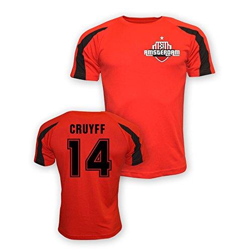 Johan Cruyff Ajax Sports Training Jersey (red) B01LACR5WC Small (34-36
