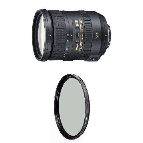 Nikon 18-200mm f/3.5-5.6G AF-S ED VR II Nikkor Telephoto Zoom Lens for Nikon DX-Format Digital SLR Cameras w/ B+W 72mm XS-Pro HTC Kaesemann Circular Polarizer